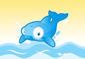 Gullig delfin vektor