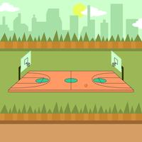 Basketbal Hof Illustratie