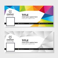 Colorful Facebook Cover Template vector