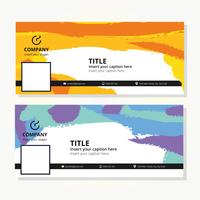 Colorful Facebook Cover Template