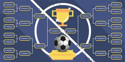 Tournament Bracket Poster Vector