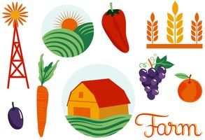 Landbouw 2 vectoren