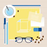 Desktop des Vektor-Büro-Designers
