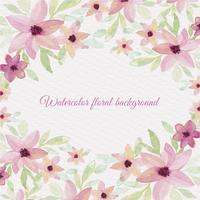 Fundo floral da aguarela do vetor