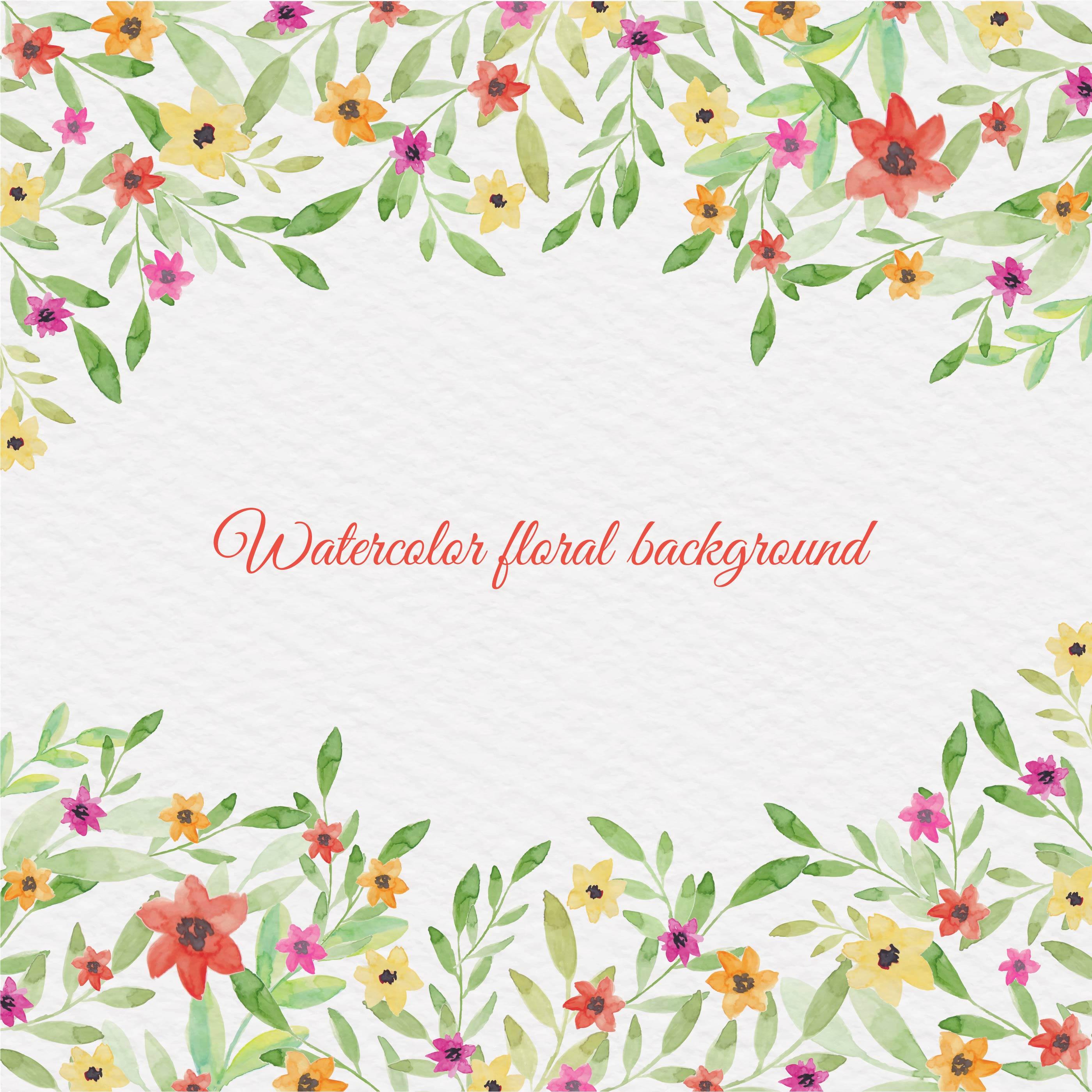 Vector Watercolor Floral Background Download Free Vectors