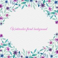 Vektor Aquarell Blumen Hintergrund