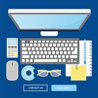 Vector de elementos de oficina y accesorios