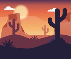 Woestijnlandschap Vectorontwerp
