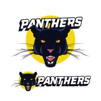 zwarte panter logo vector