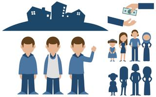Blue Vector People