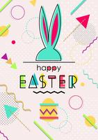 Happy Easter Memphis Background vector