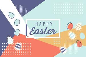 Happy Easter Memphis Vector
