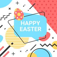 Easter Background Memphis Style