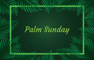 Palm Sunday Frame Background