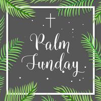 Flat Palm Sunday Background vector