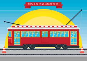 New Orleans streetcar vector
