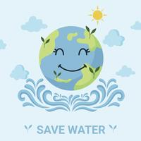 bespaar water campagne vector