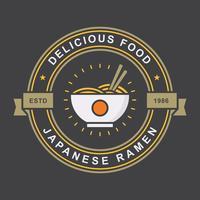 ramen vintage emblem