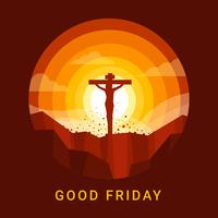 Good Friday Background Vector