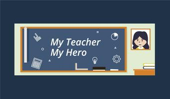 Teacher Facebook Cover Illustration