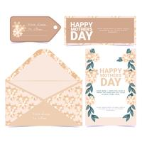 Vector Floral Mother's Day Greeting Card