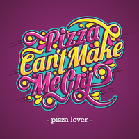 Pizza Lover Typography