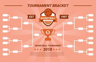 Basketball Tournament Bracket Vector