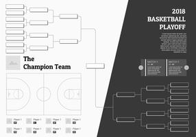 basketball tournament champion bracket vector