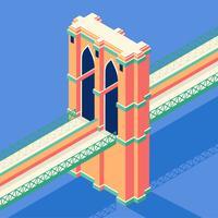 Brooklyn Bridge Isometric