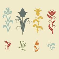 Vector floral de Nouveau del arte