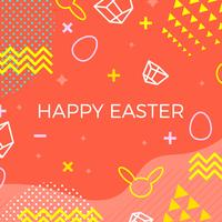 happy easter memphis Style Vector Background