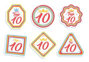 Top Chart Number Label Vector
