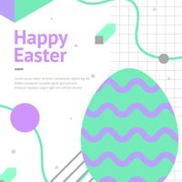 Easter Memphis Greeting Vector