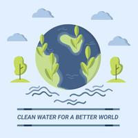 Acqua pulita per Better World Design Vector