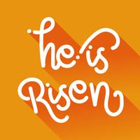 He is risen monoline typography