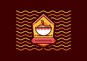 ramen badge vector