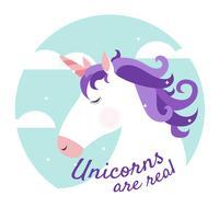 Los unicornios son antecedentes reales vector