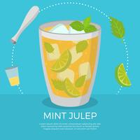 Flat Mint Julep Vector Illustration
