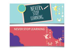 Kindergarten Teacher theme for facebook cover vector