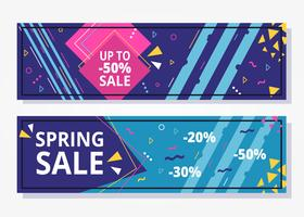 Sale Geometric Banner vector