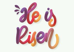 Hij is Risen Typography Vector Design