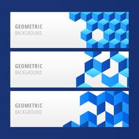 Blue Geometric Banner Vector