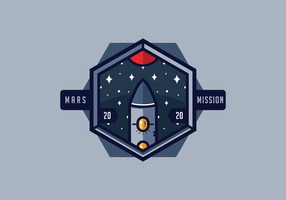 Mission à Mars Patch Vector