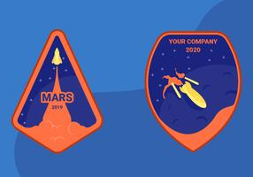 Reis naar Mars Patch Vectoren
