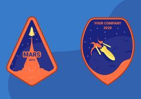 Reis naar Mars Patch Vectoren