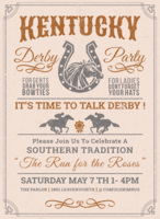 Kentucky Party Derby Invitation