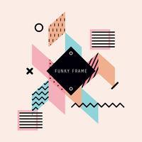 Mooi geometrisch Funky Frame