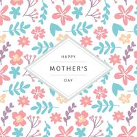 Cartão para o dia da mãe com um fundo padronizado