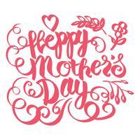 tarjeta del día de las madres felices