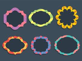 Colorful Fungky Frame Vector